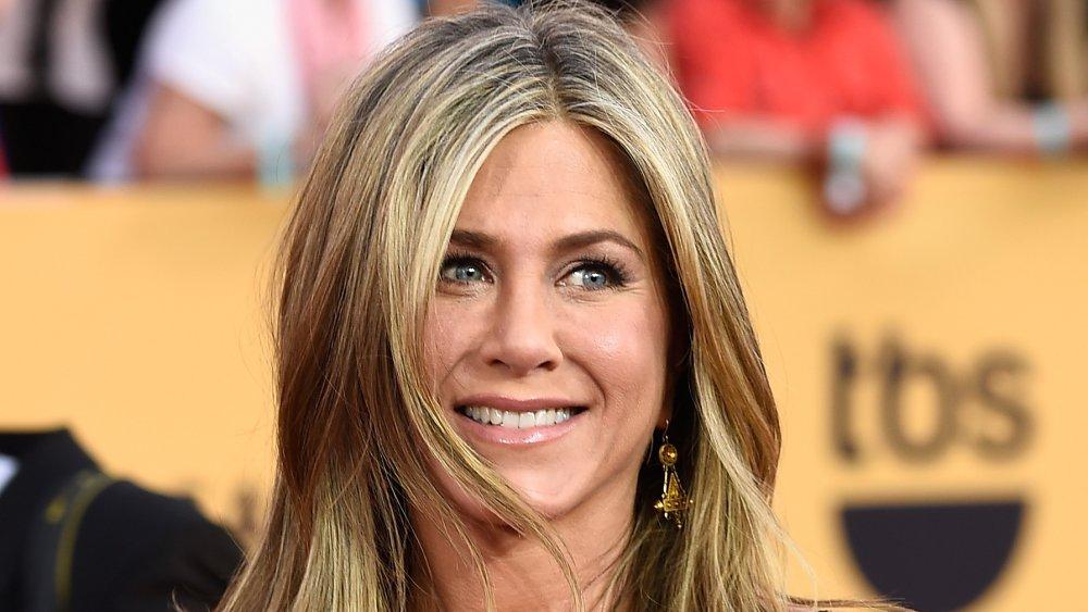 Jennifer Aniston sonriendo en los Sag Awards 2015