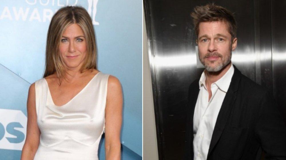 Imagen dividida de Jennifer Aniston y Brad Pitt
