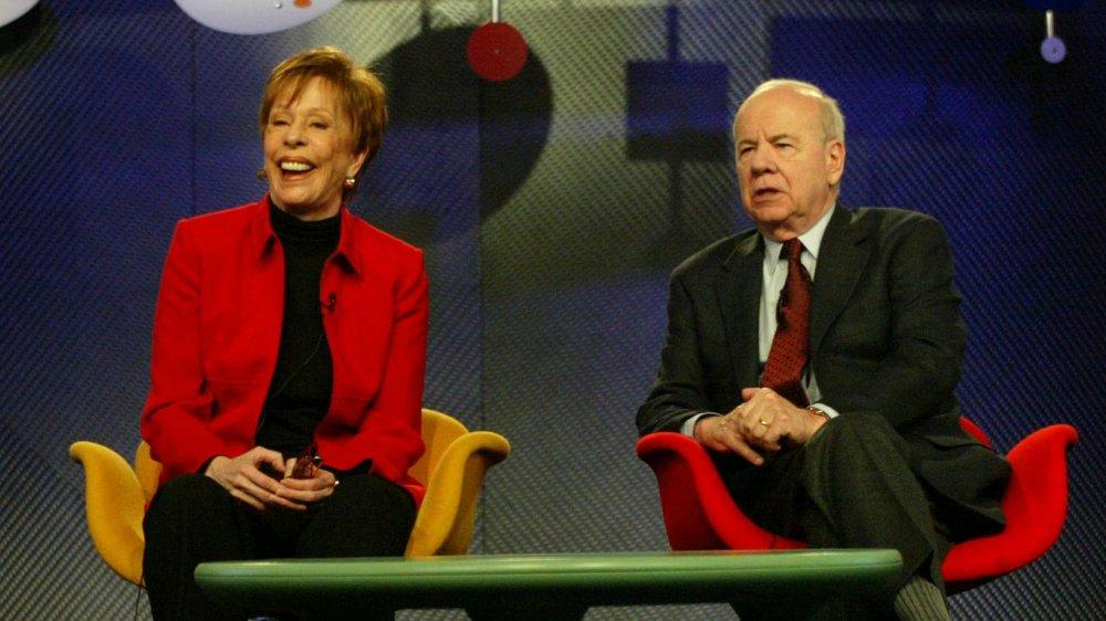 Carol Burnett y Tim Conway en 2004 Television Critics Association Press Tour