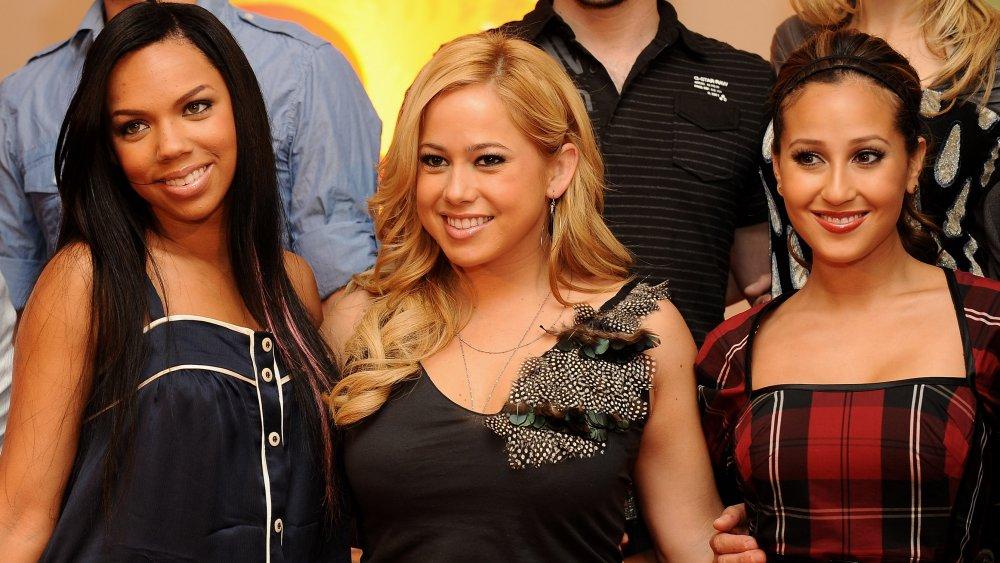 Kiely Williams, Sabrina Bryan y Adrienne Balon en el lanzamiento de la nueva temporada de Disney Channel en 2008