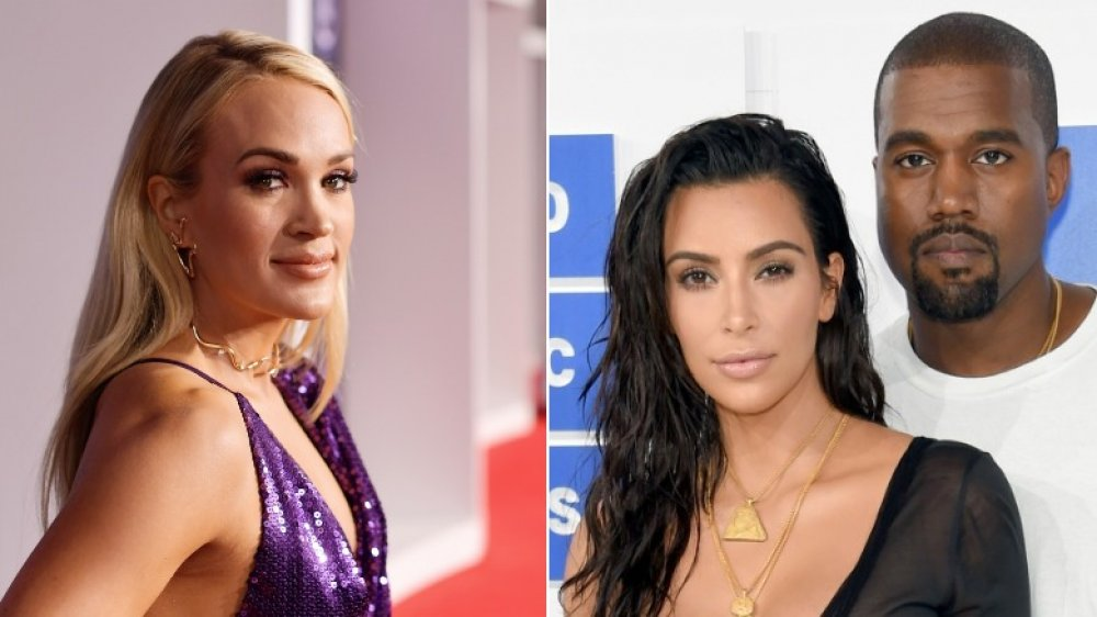 Carrie Underwood; Kim Kardashian y Kanye West