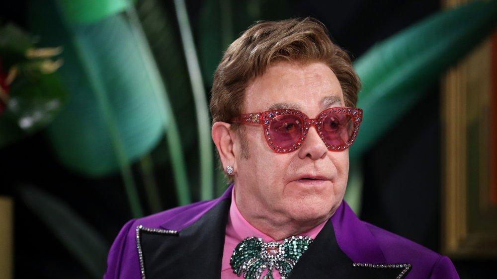 Elton John en IMDb LIVE presentado por M&M'S en The Elton John AIDS Foundation Academy Awards Viewing Party en 2020