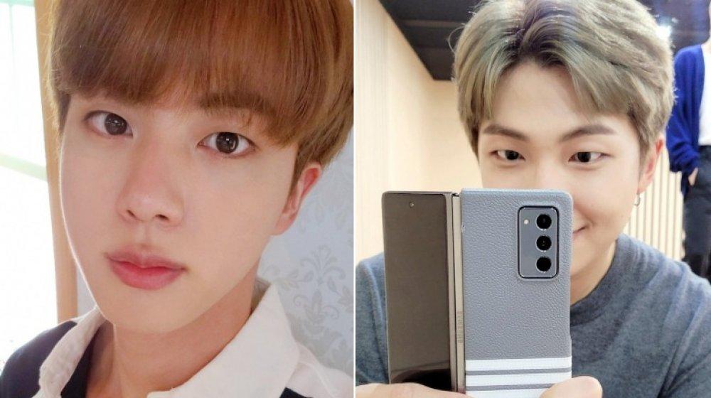 Jin y RM de bts