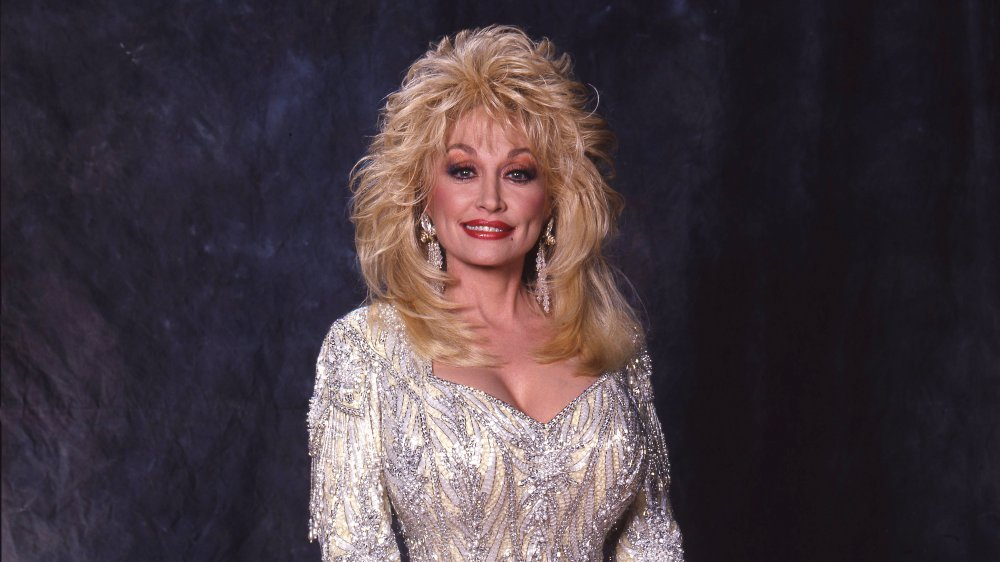 Dolly Parton en el CMA Award Show Backstage en 1988