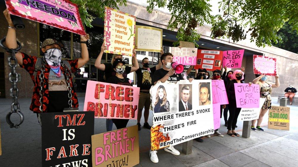 manifestantes #FreeBritney