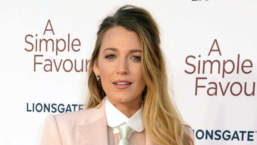 Blake Lively en el estreno británico de A Simple Favor en 2018