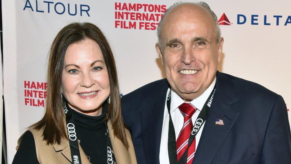 Rudy Giuliani y Judith Nathan
