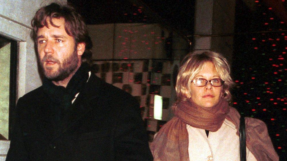 Russell Crowe Meg Ryan en Madison Avenue en 2000