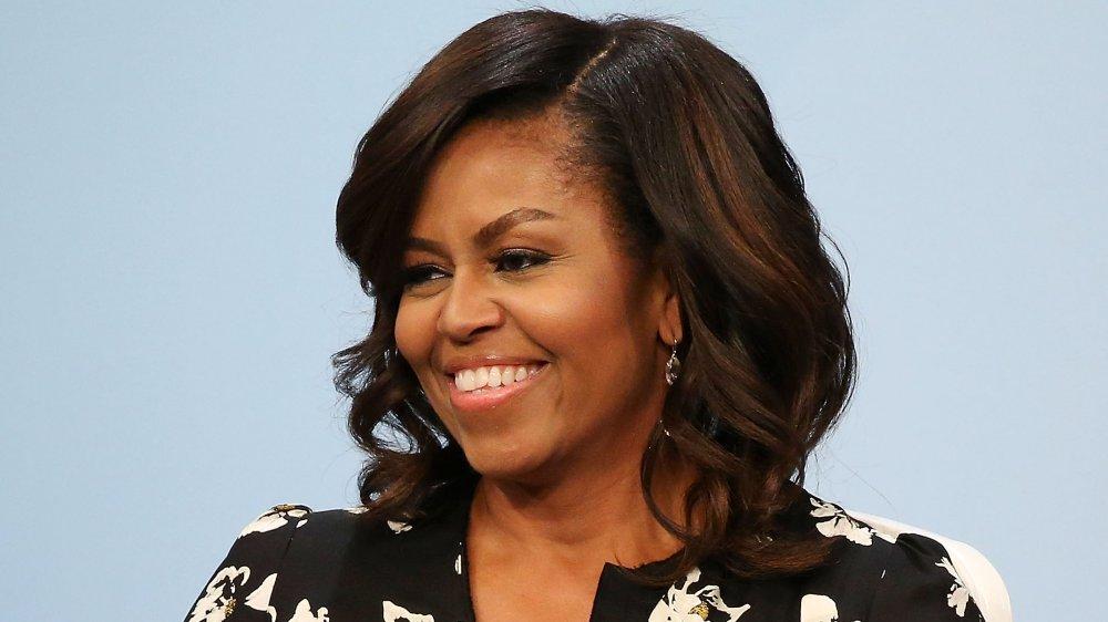 Michelle Obama en su mesa redonda con Glamour, 'A Brighter Future: A Global Conversation on Girls' Education'