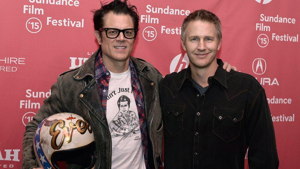 Johnny Knoxville y Daniel Junge en el Festival de Cine de Sundance