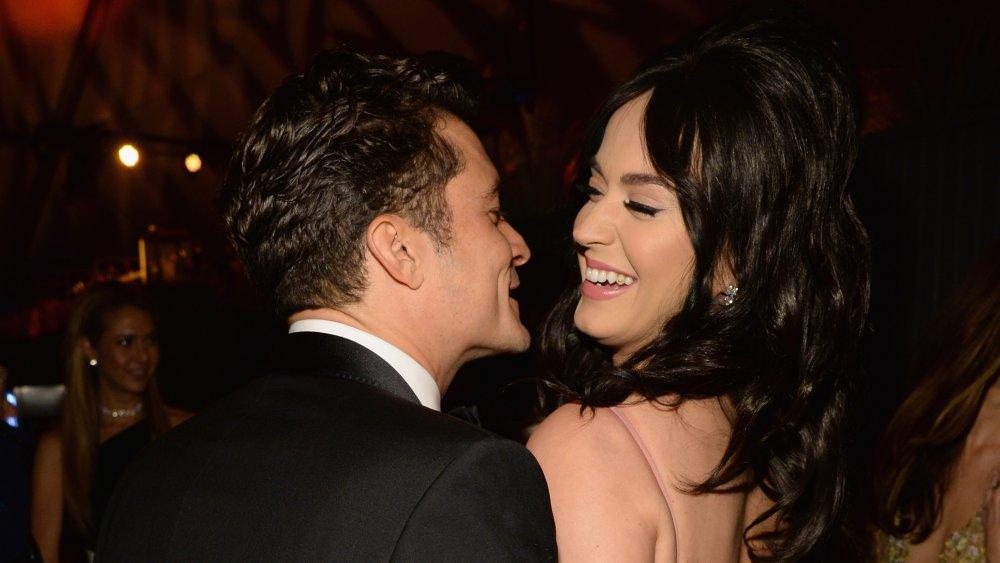 Orlando Bloom y Katy Perry en una fiesta de los Globos de Oro en 2016