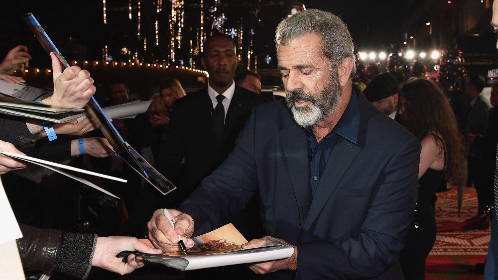 Mel Gibson en el estreno británico de Daddy's Home 2 en 2017