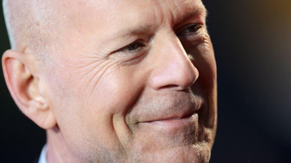 Bruce Willis en el estreno británico de A Good Day to Die Hard en 2013