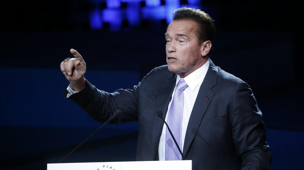 Arnold Schwarzenegger en la Cumbre One Planet en 2017