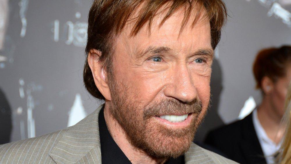 Chuck Norris en el estreno de The Expendables 2 en 2012
