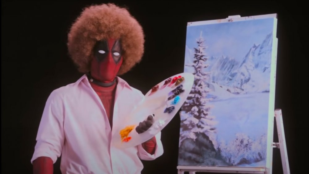 Ryan Reynolds como Deadpool como Bob Ross