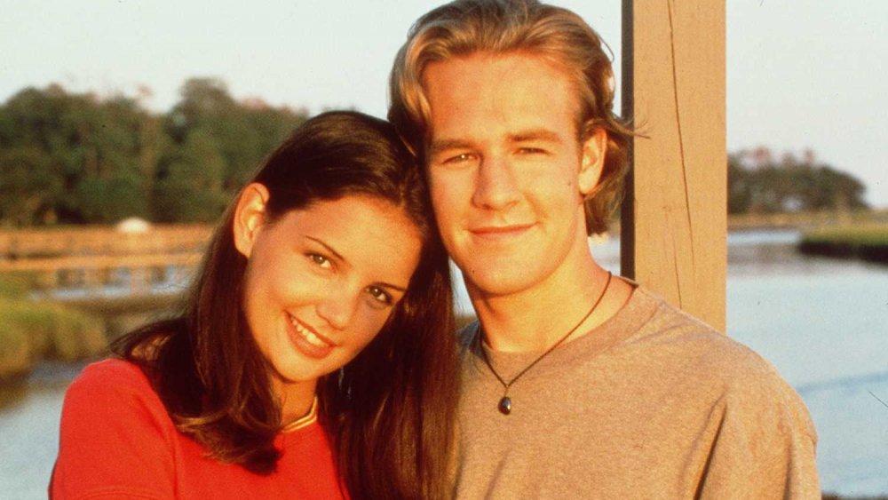 Katie Holmes y James Van Der Beek en Dawson's Creek en 1997