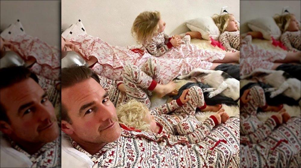 James Van Der Beek y sus hijos en 2020