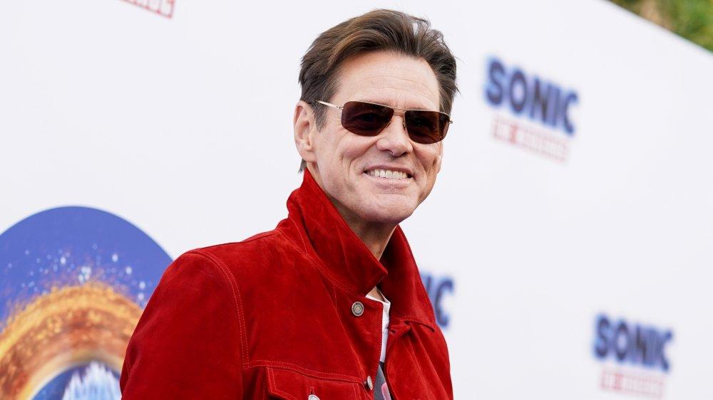 Jim Carrey en el estreno de Sonic the Hedgehog