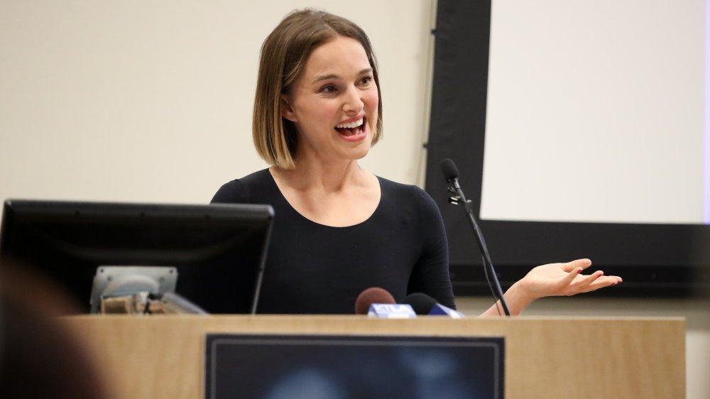 Natalie Portman en una recaudación de fondos en Los Ángeles