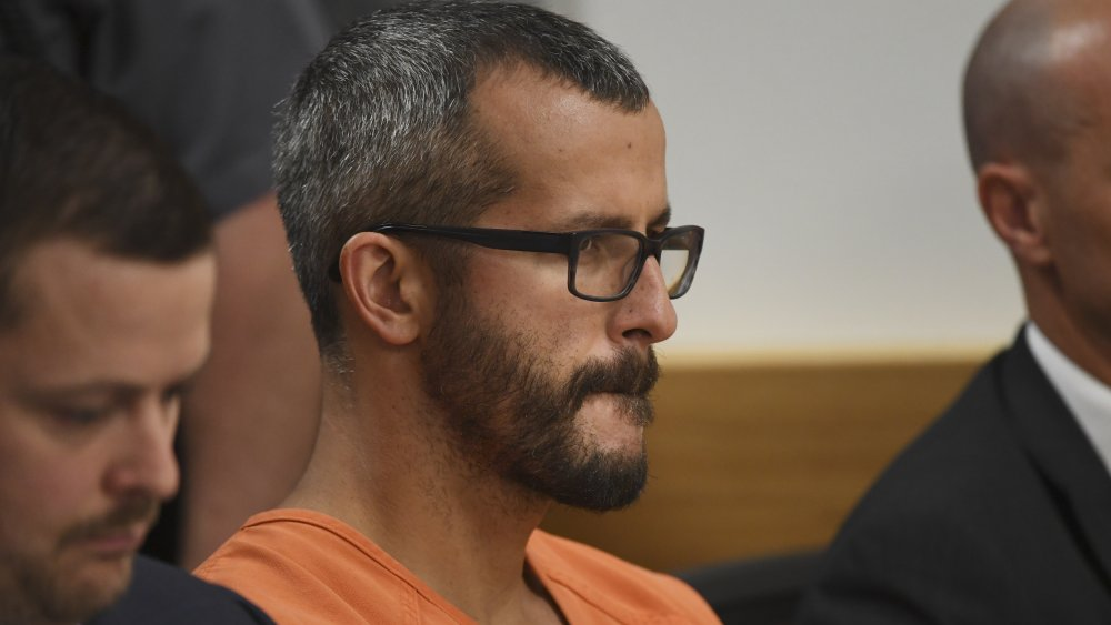 Chris Watts en una audiencia judicial en agosto de 2018