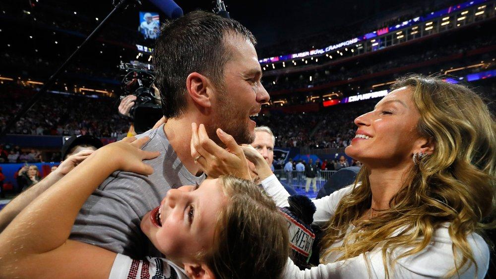 Tom Brady y familia