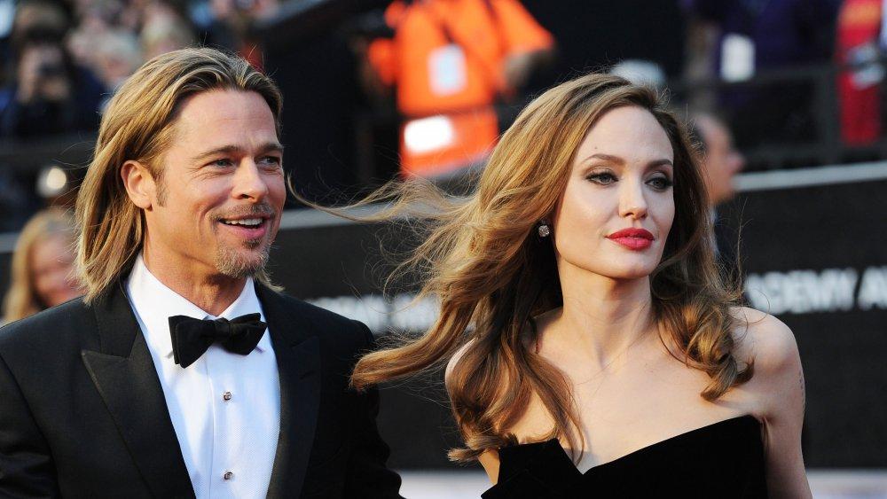 El actor Brad Pitt;  Actriz Angelina Jolie