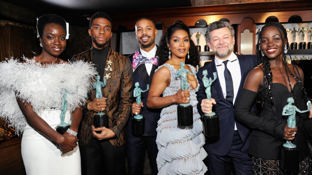 Chadwick Boseman, Michael B. Jordan y otros miembros del elenco de Black Panther