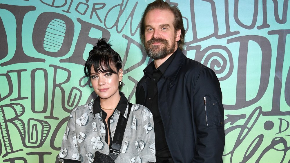 Lily Allen y David Harbour en el desfile de Dior Men's Fall 2020 Runway Show