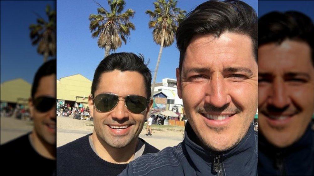 Harley Rodríguez y Jonathan Knight en una selfie