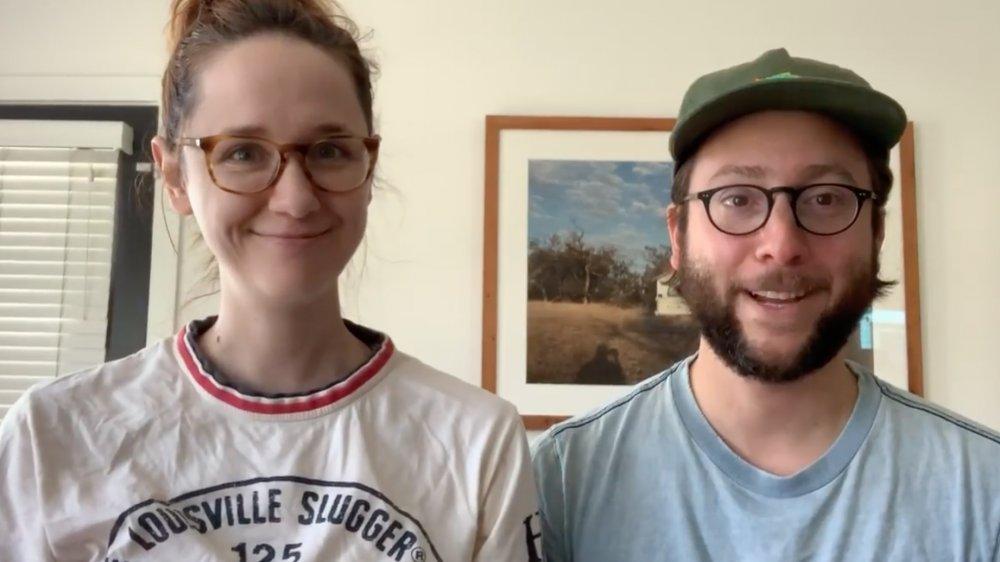 Laura Spencer y Michael Greenwald en una publicación de Instagram de 2020