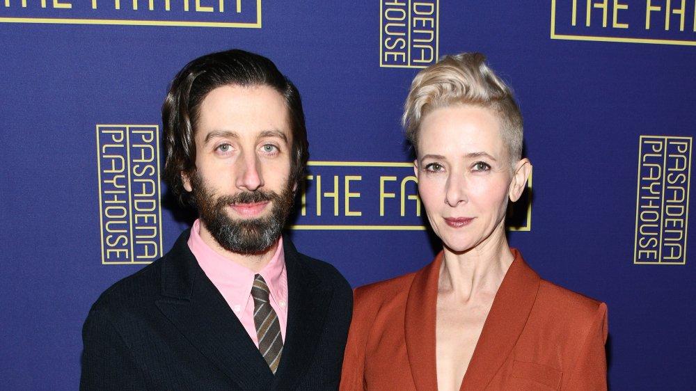 Simon Helberg y Jocelyn Towne en The Father en Pasadena Playhouse en 2020