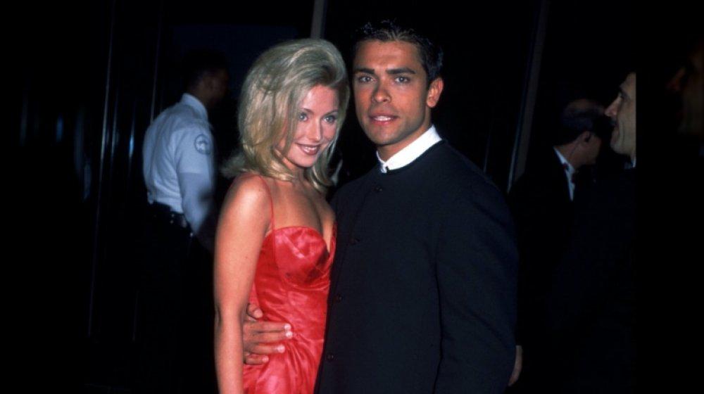 Kelly Ripa y Mark Consuelos en los premios Soap Opera Digest en 1996