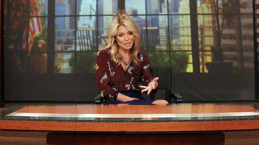 Kelly Ripa en Live with Regis y Kelly en 2011