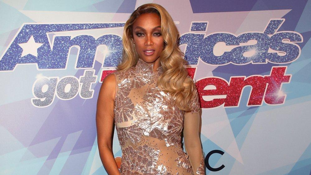 Tyra Banks en la alfombra roja de America's Got Talent