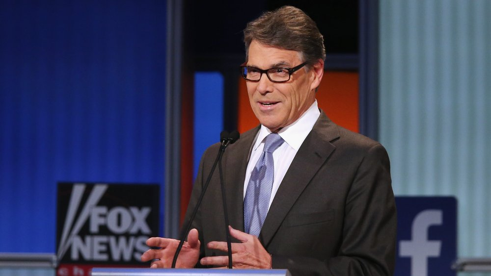 Rick Perry en el podio