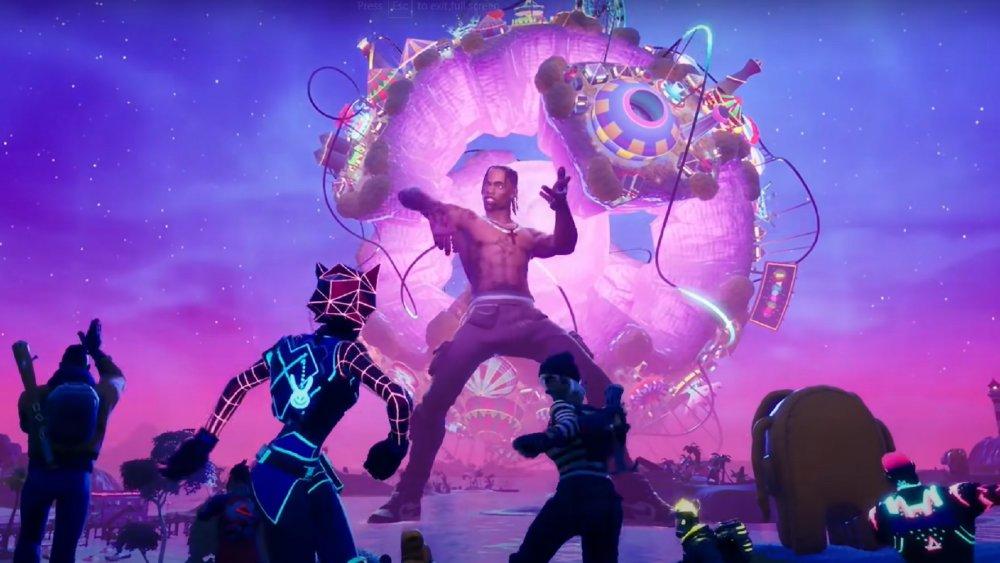 Avatar de Travis Scott durante el evento astronómico de Fortnite