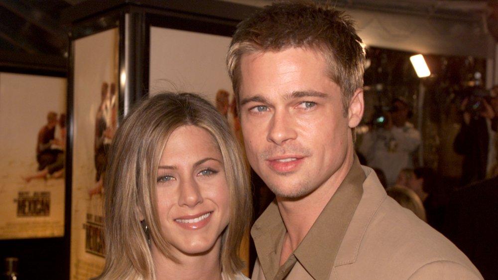 Jennifer Aniston y Brad Pitt en el estreno de The Mexican en 2001