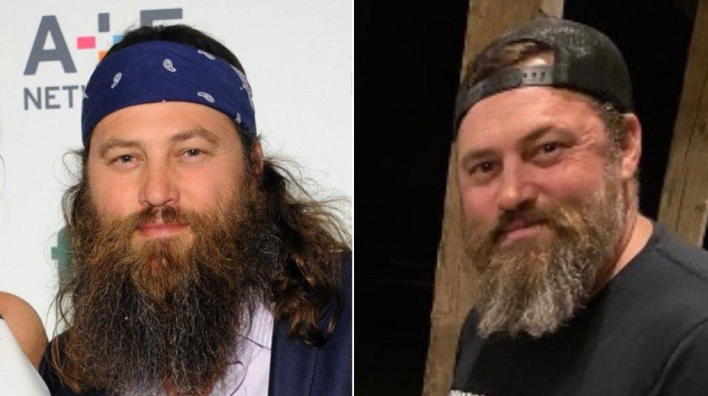 Izquierda: Willie Robertson con mucho cabello / Derecha: Willie Robertson después del corte de pelo