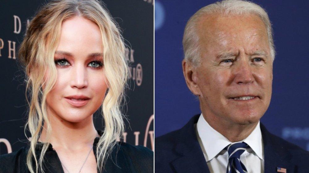 Jennifer Lawrence y Joe Biden