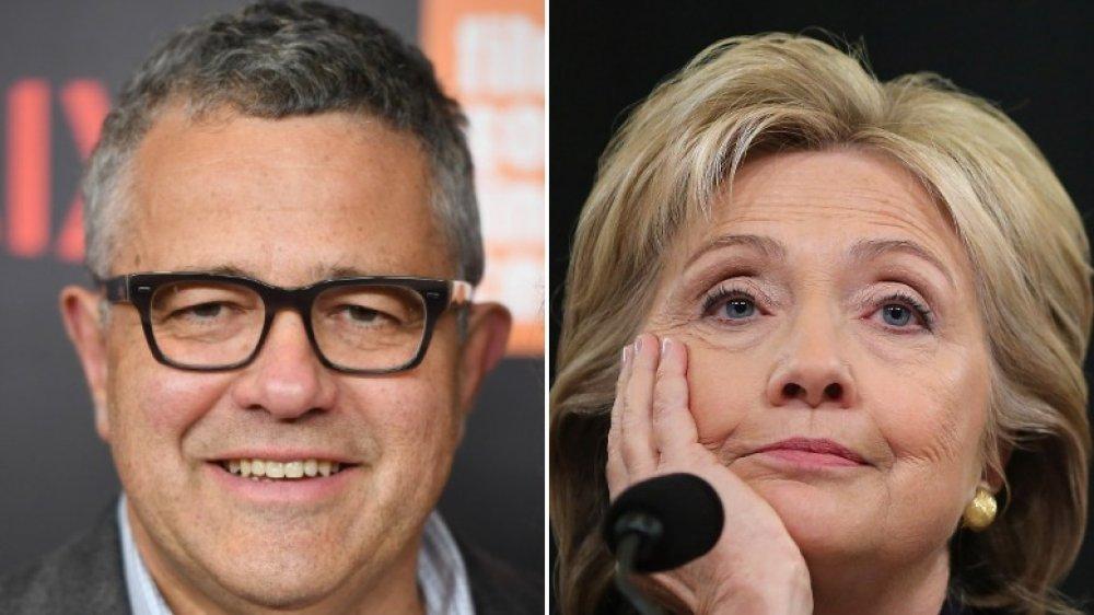 Jeffrey Toobin y Hillary Clinton