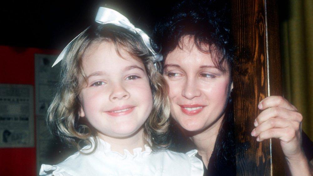 Drew Barrymore y Jaid Barrymore en 1982