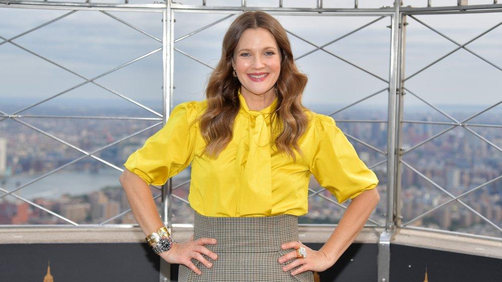 Drew Barrymore en el Empire State Building en 2020