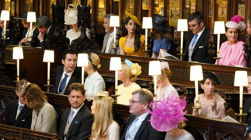 George y Amal Clooney en la boda del príncipe Harry y Meghan Markle