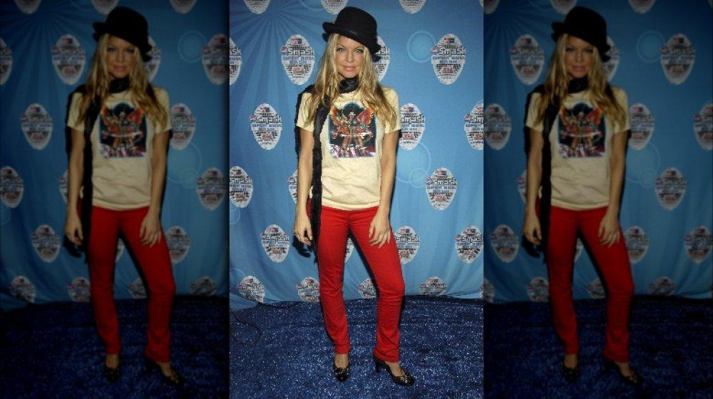 Fergie en una fiesta del Super Bowl en 2007