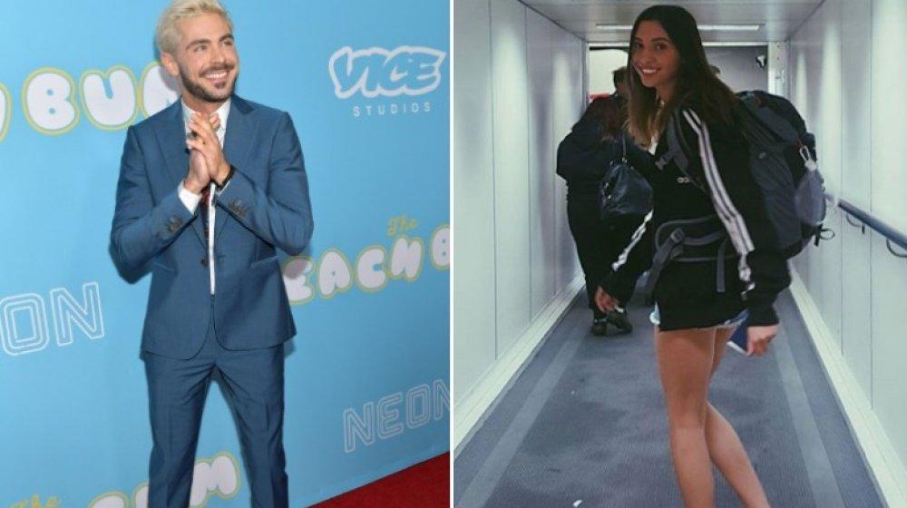 Zac Efron riéndose de Vice event y Vanessa Valladares