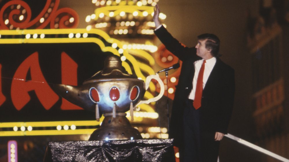 Donald Trump en el Taj Mahal Casino and Resort en 1990
