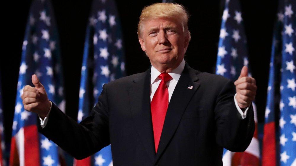 Donald Trump en la Convención Nacional Republicana en 2016