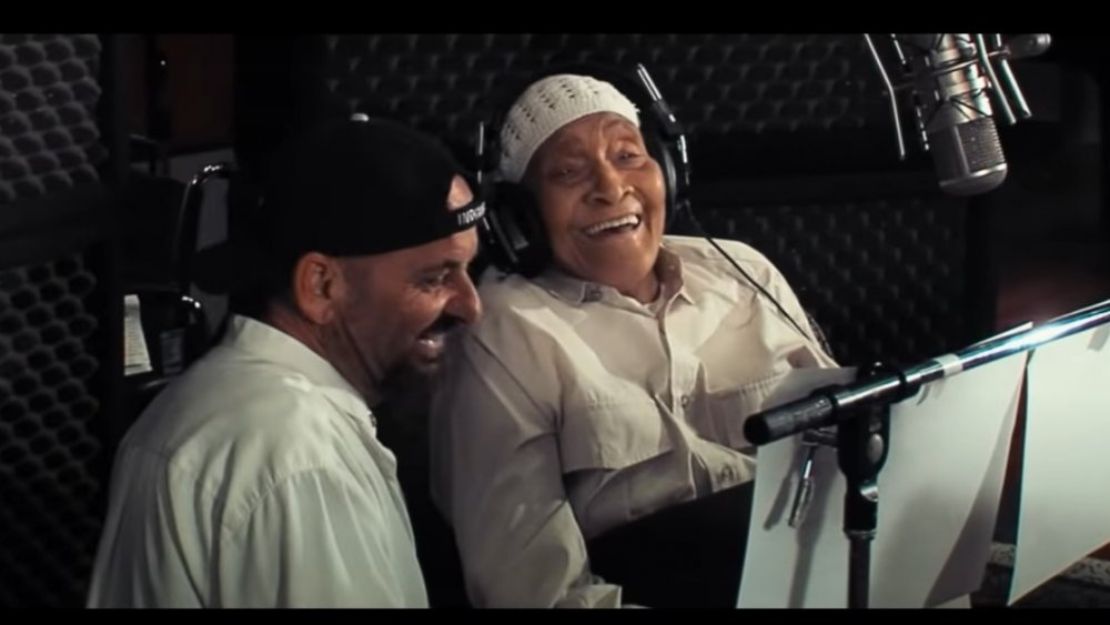 Joe Pesci y Jimmy Scott grabando un dueto