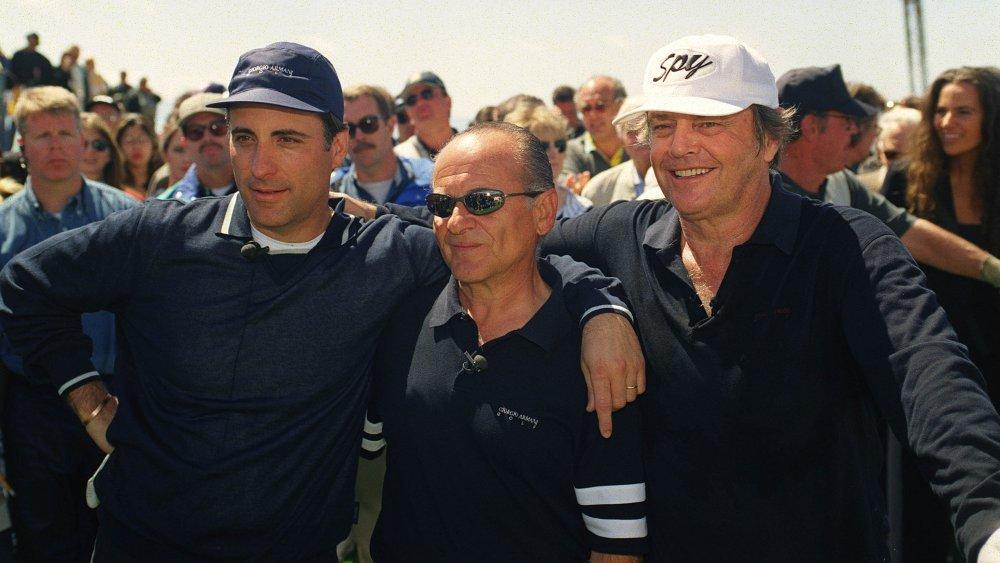 Andy García, Joe Pesci y Jack Nicholson en un torneo de golf